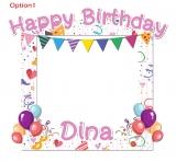 Happy Birthday Frame 3 Medium Size