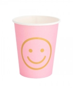 Classic Cup Blush Smiley Face