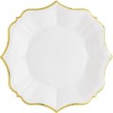 White Linen Dessert Plates