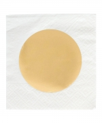 Cocktain Napkin Gold Dot
