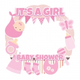 Girl Baby Shower Frame Small Size