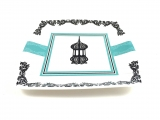 Lantern Square Dessert Paper Plates