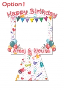 Happy Birthday Frame 3  x-Large Size