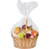 Large Clear Bag Cello Basket