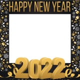 Happy New Year 2021 Frame Small Size