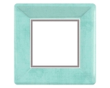 Turquoise Blue Square Dinner Paper Plates