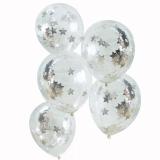 Metallic Star Confetti Balloons