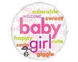 Baby Girl World Cloud Clear Balloon