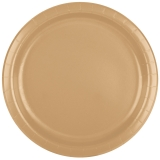 Heavy Duty Glittering Gold Dinner Paper Plates