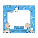 Boy Baby Shower Frame Small Size