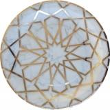 Carrara Marble Arabesque Dinner Plate