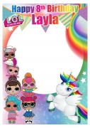 Lol Surprise Dolls & Unicorn Frame x-Large Size