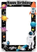 Space Theme Frame x-Large Size