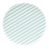 Mint Stripes Large Paper Plates