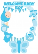 Boy Baby Shower Frame x-Large Size