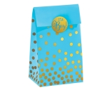 Its A Boy Blue Foil Stamped Paper Bag With Stickers