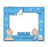 Boy Baby Shower Frame Large Size