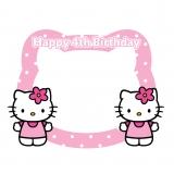 Hello Kitty Happy Birthday Frame Large Size