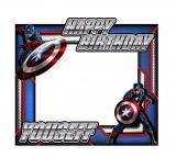 Captain America Theme Frame Medium Size