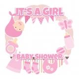 Girl Baby Shower Frame Medium Size