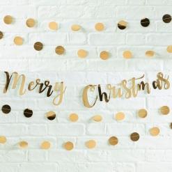 Metallic Merry Xmas Bunting
